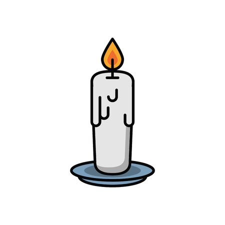paraffin candle halloween isolated icon vector illustration design
