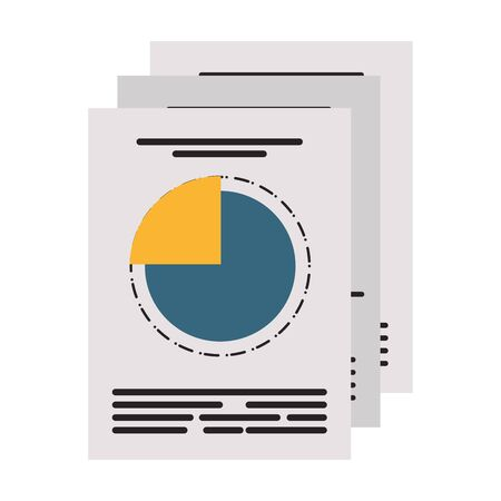 Business profit statics graph reports vector illustration graphic design