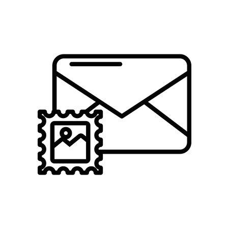 envelope mail with stamp postal service vector illustration design Illustration