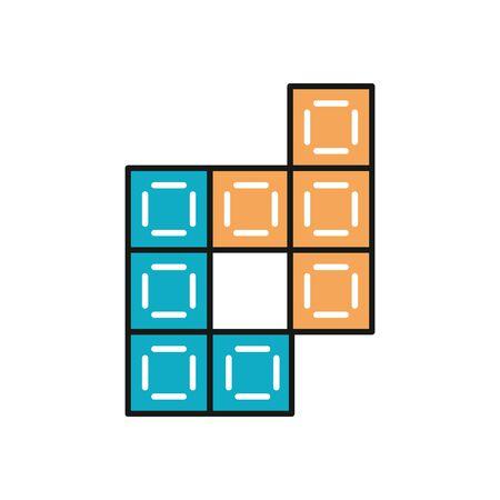 video game bricks isolated icon vector illustration design Ilustracja