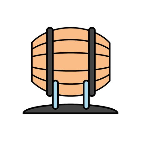 wine barrel drink isolated icon vector illustration design Banque d'images - 139204594