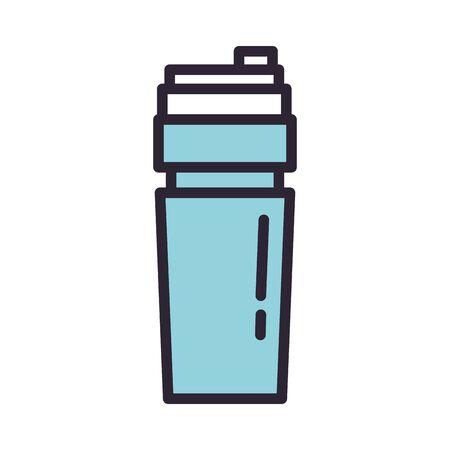 bottle water drink isolated icon vector illustration design Ilustração