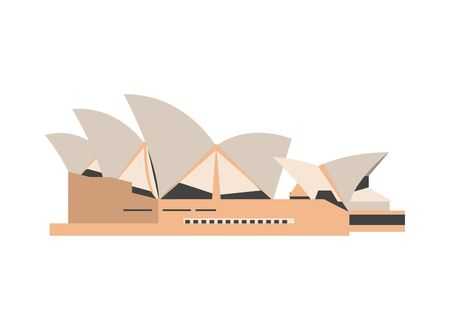 sidney opera house moniment icon vector illustration design