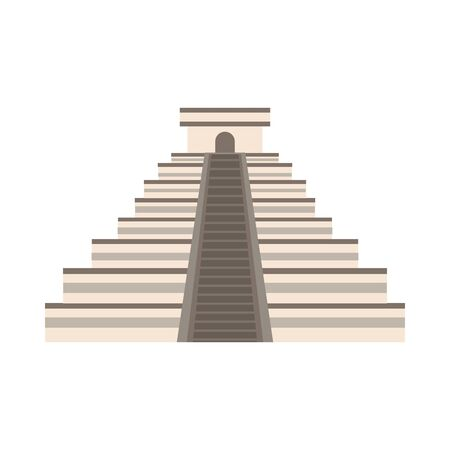 pyramid mayan mexican culture icon vector illustration design