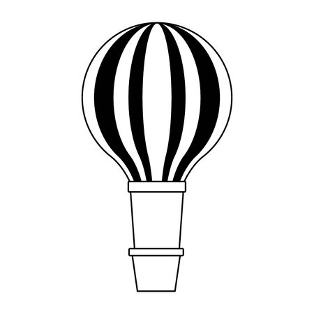 hot air balloon icon over white background, vector illustration