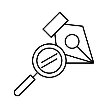 Recherche loupe icône isolé vector illustration design Vecteurs