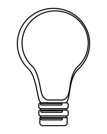 light bulb idea cartoon vector illustration graphic design