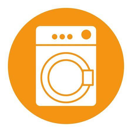 wash machine appliance isolated icon vector illustration design Stock Illustratie