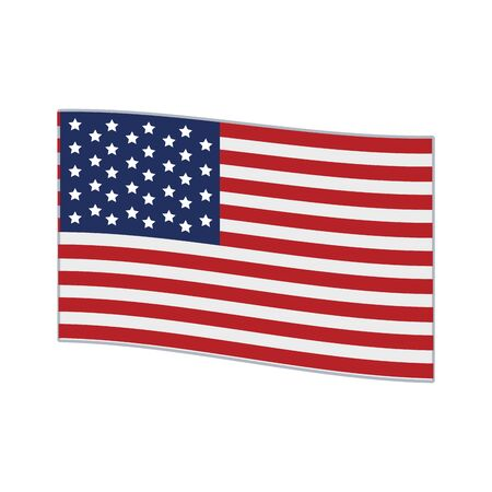 united states flag icon over white background, vector illustration