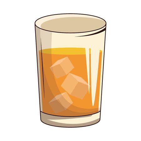 beer glass icon over white background, vector illustration Ilustração