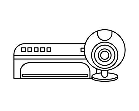 webcamera device hardware isolated icon vector illustration design