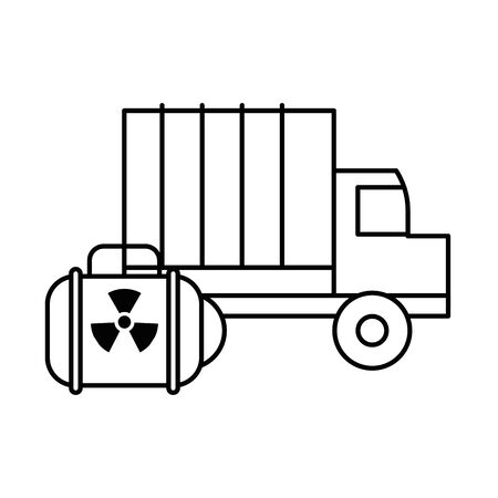 nuclear balice military force with truck vector illustration design