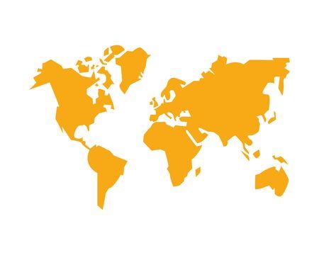 world planet earth maps icon vector illustration design