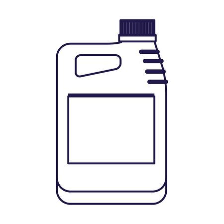 car oil bottle icon over white background, flat design, vector illustration