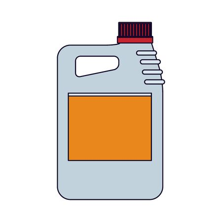 car oil bottle icon over white background, vector illustration