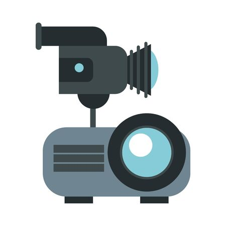 video bean player with handy cam vector illustration design