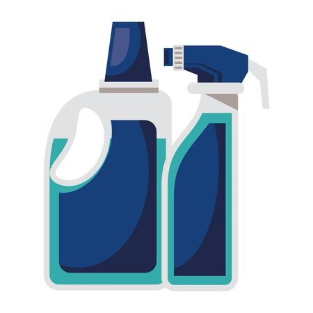 splash bottles plastic products clean icons vector illustration design