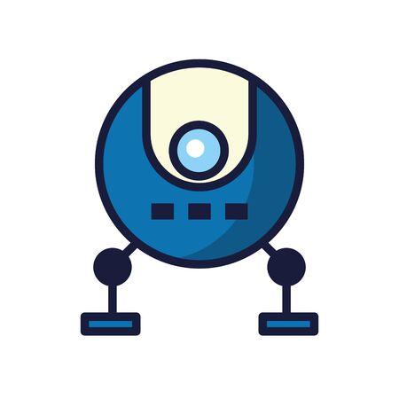 robot cyborg tech isolated icon vector illustration design Ilustración de vector