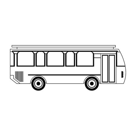 Bus public transport vehicle isolated vector illustration graphic design Stock Illustratie
