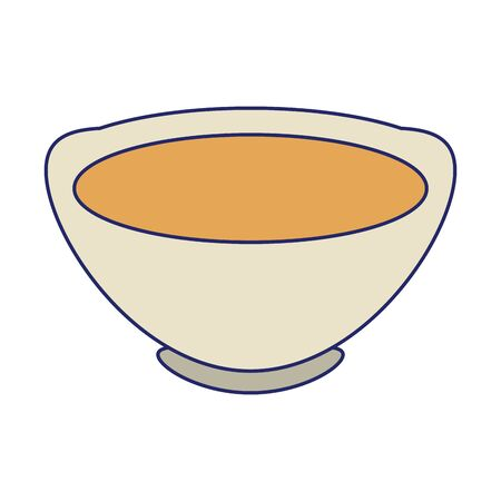 chinese tea cup icon over white background, vector illustration  イラスト・ベクター素材