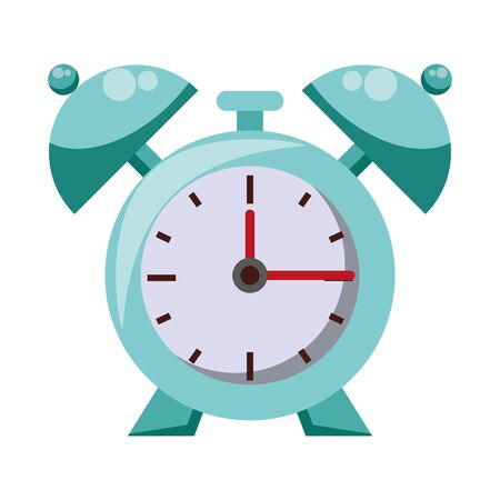 Alarm clock with bells isolated symbol vector illustration graphic design