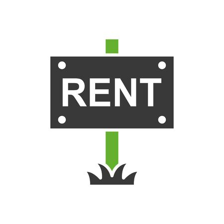 house rent label isolated icon vector illustration design