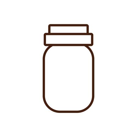thanksgiving preserve jar isolated icon vector illustration design
