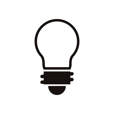 bulb light energy isolated icon vector illustration design Illustration