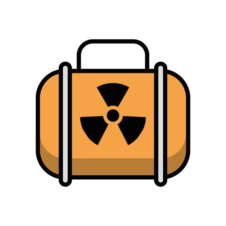 nuclear balice military force isolated icon vector illustration design Illusztráció