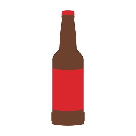 beer bottle icon over white background, vector illustration
