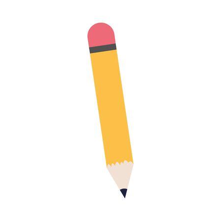 pencil utensil icon over white background, vector illustration