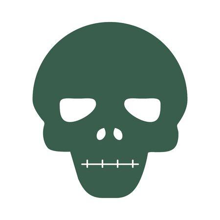 skull head face isolated icon vector illustration design