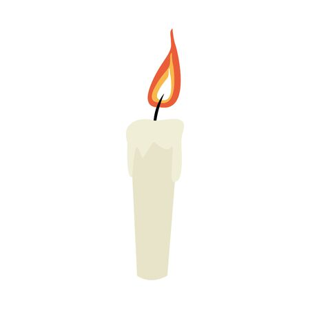 candle icon over white background, colorful design, vector illustration