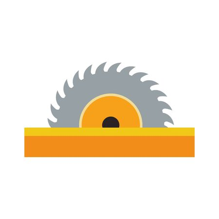 saw tool icon over white background, colorful design, vector illustration