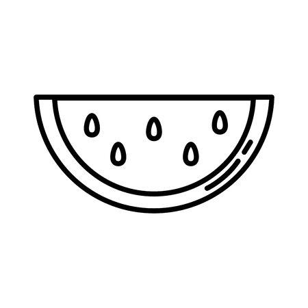 watermelon fresh fruit nature icon vector illustration design 스톡 콘텐츠 - 139726814
