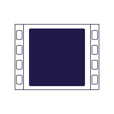 film reel icon over white background, flat design, vector illustration