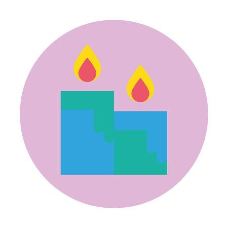 candles fire flames isolated icon vector illustration design