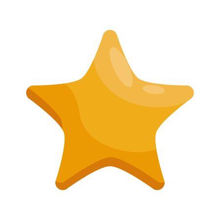 merry christmas golden star icon vector illustration design
