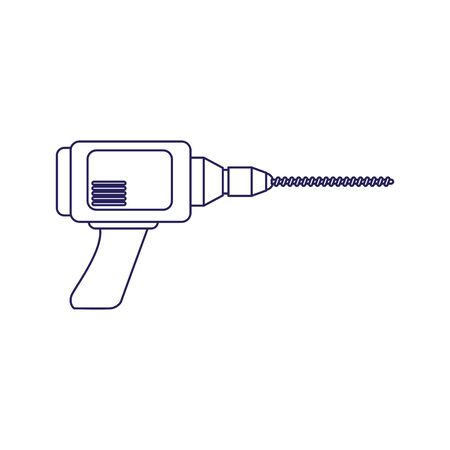 drill tool icon over white background, flat design, vector illustration