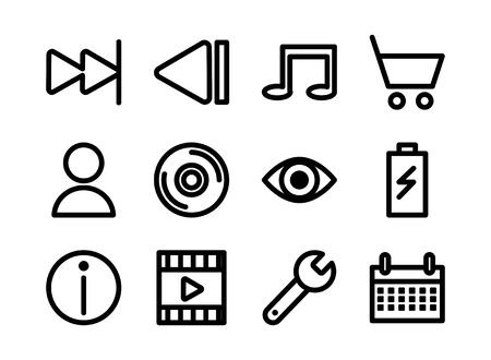 bundle of user interface set icons vector illustration design