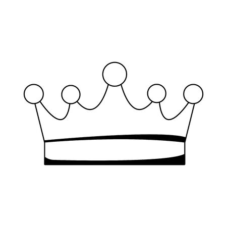 queen crown icon over white background, flat design, vector illustration