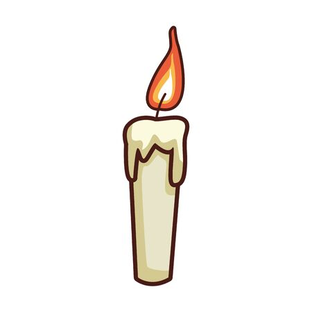 candle icon over white background, vector illustration