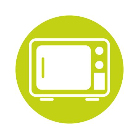 microwave home appliance isolated icon vector illustration design