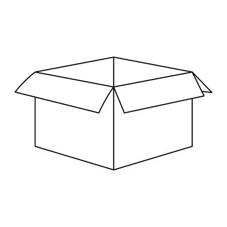 box icon over white background, flat design, vector illustration