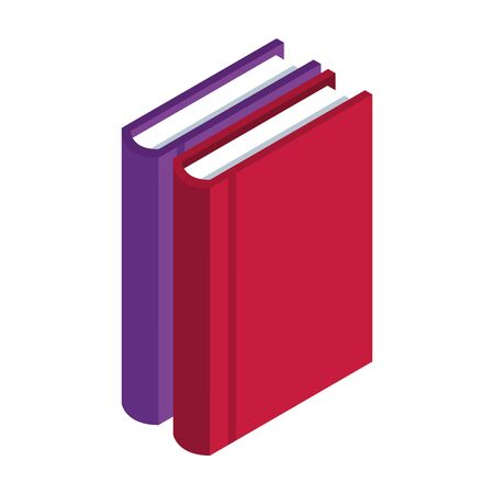academic books icon over white background, vector illustration