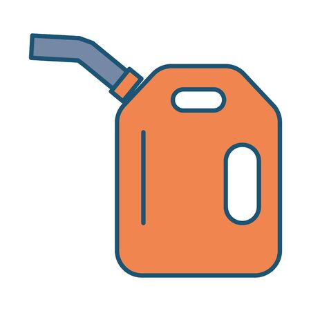 gallon oil tank isolated icon vector illustration design Ilustração