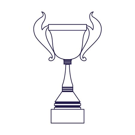 trophy cup icon over white background, flat design, vector illustration