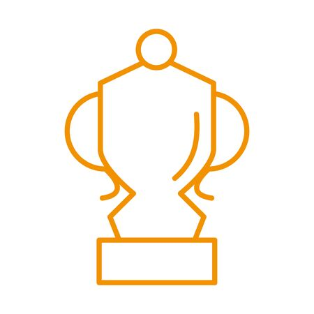 trophy cup award price isolated icon vector illustration design 일러스트