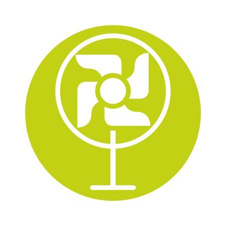 fan home appliance isolated icon vector illustration design Illustration