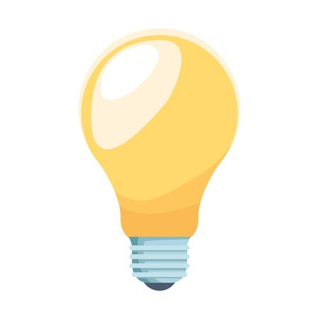 light bulb icon over white background, colorful design, vector illustration Illusztráció